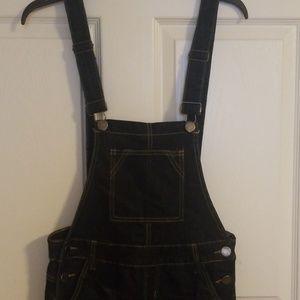 V.I.P Jean's Dark Denim Overalls Size 7/8